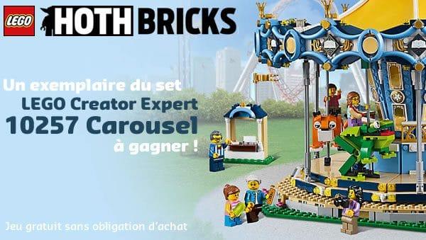 Concours : Un exemplaire du set LEGO Creator Expert 10257 Carousel à gagner !