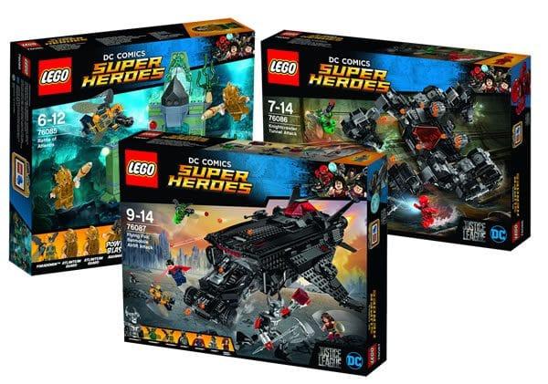 LEGO Justice League : quelques visuels officiels des trois sets prévus