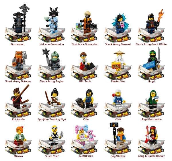 71019 The LEGO Ninjago Movie Collectible Minifigures Series
