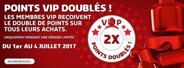 Points VIP doublés du 1er au 4 juillet 2017 sur le LEGO Shop LEGO