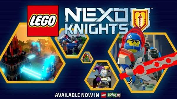 LEGO Worlds : les Nexo Knights arrivent dans le jeu !