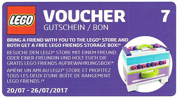 LEGO Stores : Set 40266 LEGO Friends Storage Box offert en deux exemplaires