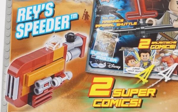 LEGO Star Wars Magazine : Le Speeder de Rey avec le numéro de septembre 2017