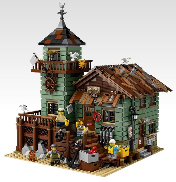 21310 old fishing store lego official