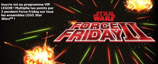 Star Wars Force Friday II : Points VIP triplés chez LEGO