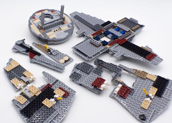 j 39 ai test pour vous lego star wars 75192 ucs millennium falcon partie 2 hoth bricks. Black Bedroom Furniture Sets. Home Design Ideas