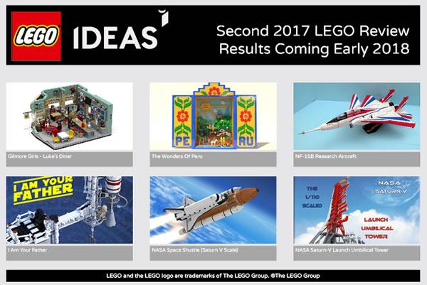 LEGO Ideas : six projets qualifiés pour la prochaine phase de review