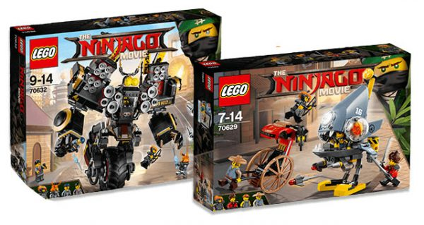 The LEGO Ninjago Movie : premiers visuels des set 70632 Cole's Quake Mech et 70629 Piranha Attack