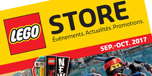LEGO Store Calendar - Septembre/octobre 2017