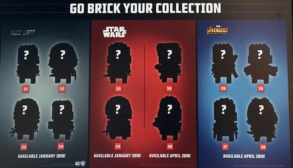 LEGo BrickHeadz : encore au moins une douzaine de références pour 2018