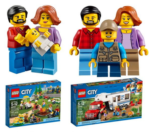 2016 : LEGO CITY 60134 Fun in the Park - City People Pack - 2018 : LEGO CITY 60182 Pickup & Caravan