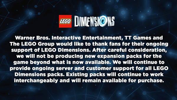 C'est officiel : LEGO Dimensions, c'est fini