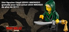 Polybag LEGO Ninjago Movie 30609 Lloyd : enfin offert sur le Shop@Home