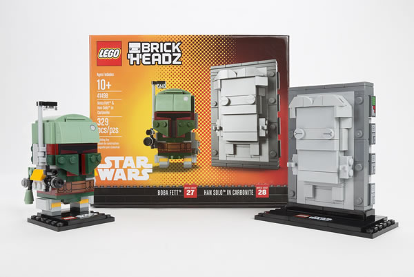 LEGO Star Wars BrickHeadz - 41498 Boba Fett & Han Solo in Carbonite (NYCC 2017 Exclusive)