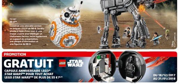5005376 LEGO Star Wars Anniversary Pod : changement de dates pour l'offre