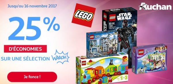 Auchan : 25% d'économies sur une sélection de produits LEGO