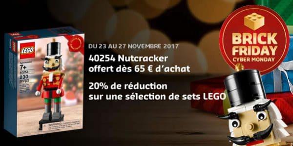 Brick Friday / Cyber Monday chez LEGO : 20% de réduction et set offert