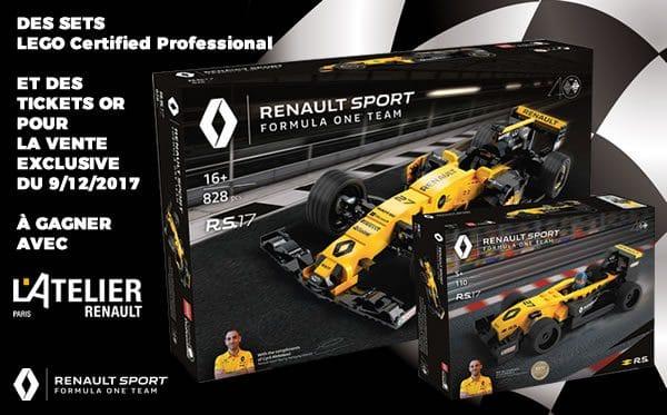 Concours : des sets LEGO LCP et des tickets Or à gagner avec l'Atelier Renault !