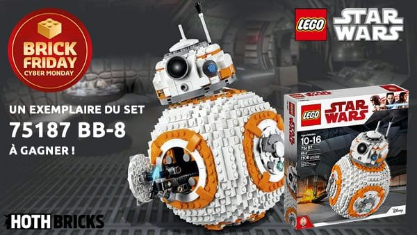 Concours Brick Friday : un set LEGO Star Wars 75187 BB-8 à gagner !