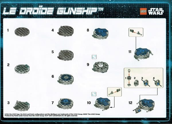 LEGO Star Wars Magazine (issue #29) Droid Gunship Instructions