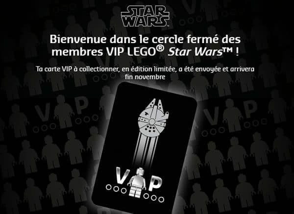 Carte VIP LEGO Star Wars : bientôt dans votre boite aux lettres...