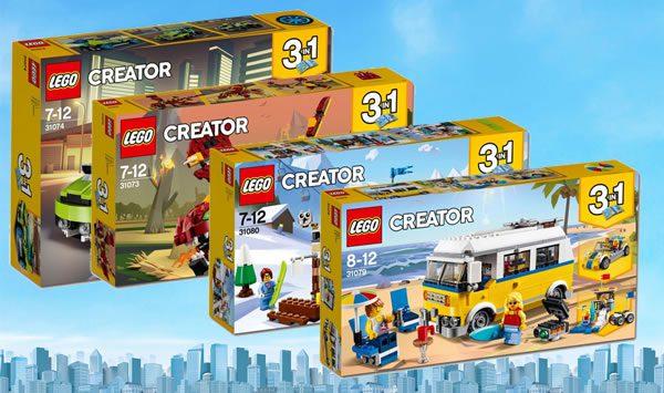 Nouveautés LEGO Creator 2018 : les visuels des sets 31079 Surfer Van et 31080 Modular Winter Lodge