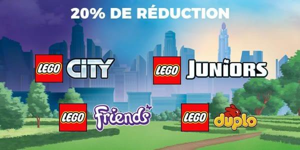 Sur le LEGO Shop : 20% de réduction sur les gammes LEGO City, Juniors, Friends et DUPLO