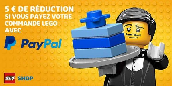 5€ de réduction chez LEGO si vous payez avec Paypal