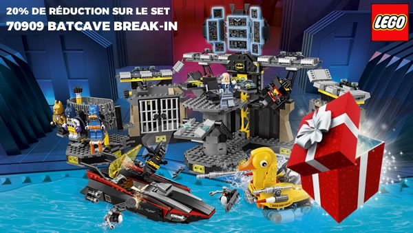 Sur le Shop@Home : -20% sur le set 70909 Batcave Break-in