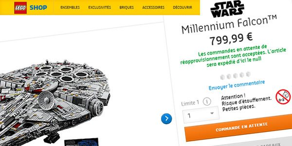 LEGO Star Wars 75192 UCS Millennium Falcon : le feuilleton continue