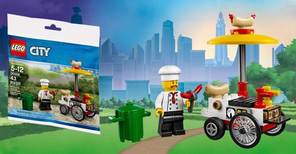 Sur le Shop LEGO : polybag City 30356 Hot Dog Stand offert