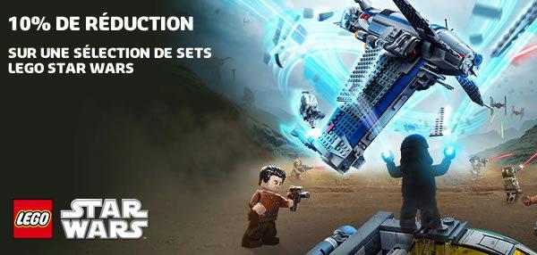 Sur le Shop LEGO : 10% de réduction sur une sélection de sets LEGO Star Wars