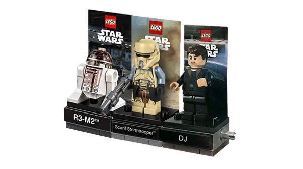 LEGO Star Wars 40268 R3-M2, 40176 Scarif Stromtrooper & 40298 DJ