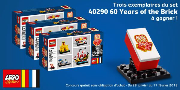 Concours : des sets LEGO 40290 60 Years of the Brick à gagner !