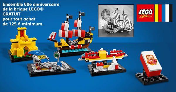 Sur le Shop LEGO : set40290 60 Years of the Brick offert dès 125 € d'achat