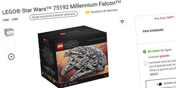 LEGO 75192 UCS Millennium Falcon : Disponible en stock sur FNAC.com