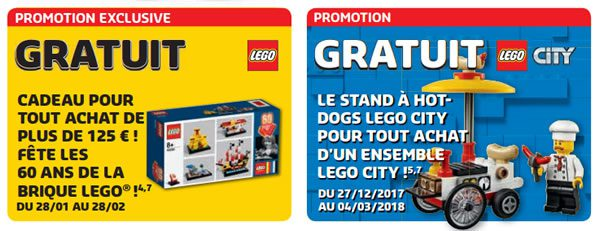 Store Calendar LEGO de janvier/février 2018