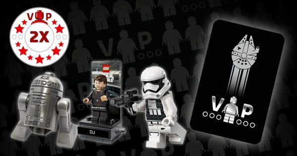 Avantages Carte VIP Black : Points VIP doublés sur la gamme LEGO Star Wars