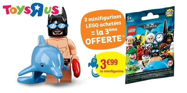 Chez Toys R Us : 2 minifigs LEGO Batman série 2 achetées, la 3ème offerte