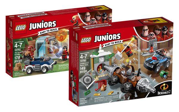 LEGO Incredibles 2 : premiers visuels officiels des sets Juniors