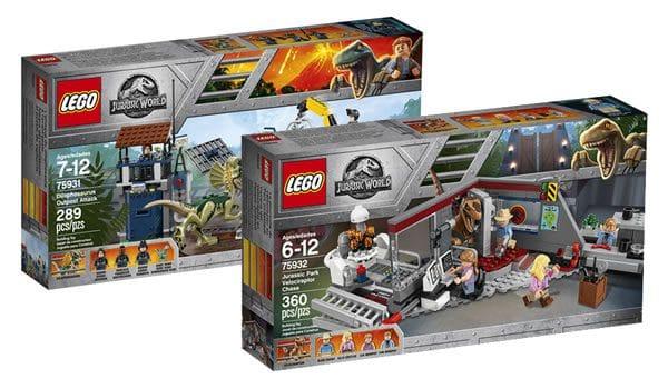 LEGO Jurassic World : 75931 Dilophosaurus Outpost Attack & 75932 Jurassic Park Velociraptor Chase