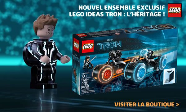 Shop LEGO : Le set LEGO Ideas 21314 TRON Legacy est disponible