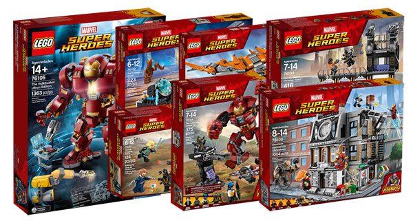 Les nouveautés LEGO Marvel Avengers Infinity War sont disponibles