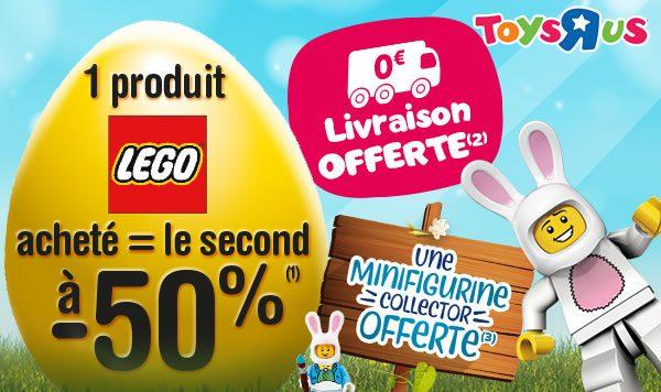 Chez Toys R Us : Un produit LEGO acheté, le 2ème à -50%