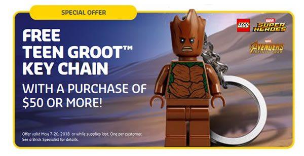5005244 Teen Groot Keychain