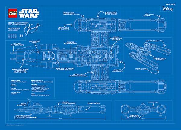 5005624 LEGO Star Wars 75181 UCS Y-Wing Starfighter Blueprint