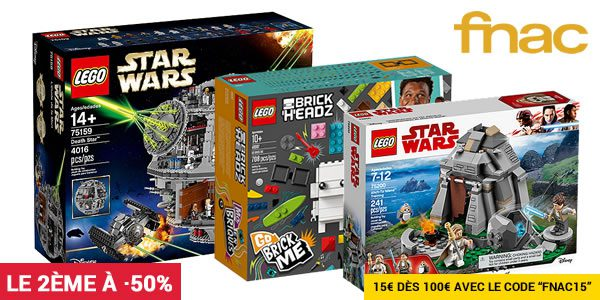 Sur FNAC.com : Un produit LEGO acheté, le 2ème à -50%