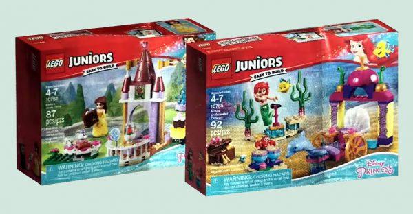 LEGO Juniors Disney Princess 10762 Belle's Story Time et 10765 Ariel's Underwater Concert