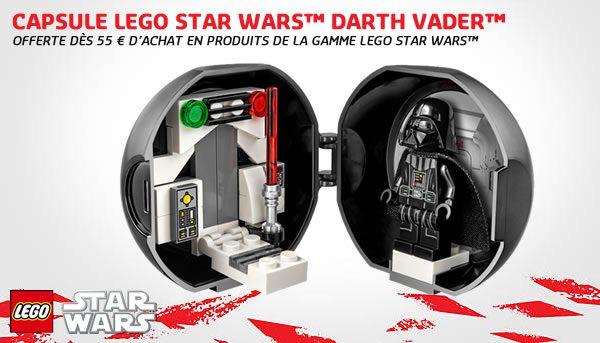 Sur le Shop LEGO : Pod LEGO Star Wars Darth Vader offert dès 55 € d'achat
