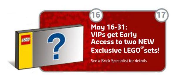 En mai 2018 : Deux sets LEGO exclusifs en vente anticipée pour les membres du programme VIP